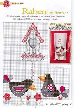 valentine cross stitch