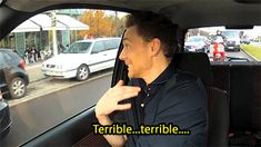"GIF Me-""JUST IMAGINE DRIVING AND PASSING TOM HIDDLESTON AND HE WAS MOUTHING WORDS TO YOU I DONT EVEN KNOW WHAT I WOULD DO. WOULD I PASS OUT OR WOULD I DIE OR WOULD I JUMP OUT OF MY CAR AND RUN AFTER HIS I JUST DONT KNOW."""