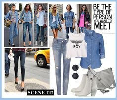 """""""Spring Trend - Denim in jeans"""" by wantering ❤ liked on Polyvore"""
