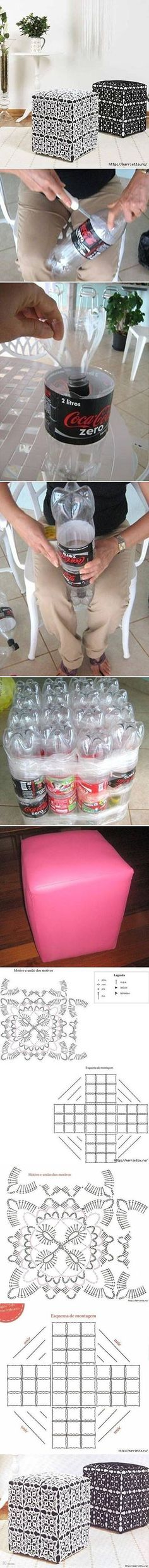 2  DIY Ottoman Out of Plastic Bottles99b5 | DIY