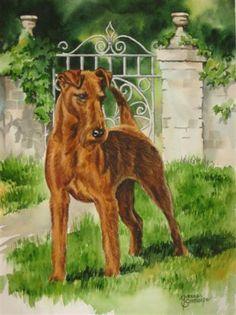 Canine Art - Work Zoom: Irish Terrier