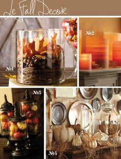 Fall / Autumn decorating inspiration