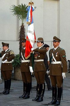 Carabineros aka los pacos..they always scared me as a child. Caras de palo.