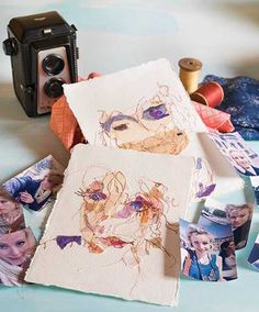 In the January/February 2018 issue of Cloth Paper Scissors, let Ailish Henderson show you how to create an abstract portrait from meaningful paper and fabric scraps.