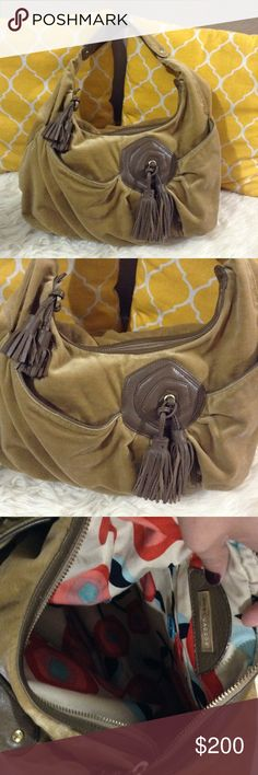 """Marc Jacobs Leather & Suede Hobo 💟Authentic💟Great shape. Minimal sign of use only. Zips to close and has pockets outside and one pocket inside. Has gorgeous leather tassels on the zipper and on front of the bag. Great as go to bag it holds a lot. Very comfortable on the shoulder. Don't be shy to make an offer💕  💐Dimensions: Length-17""""                           Height-11""""                           Bottom Width-6""""                           Handle drop-12"""" Marc Jacobs Bags Hobos"""