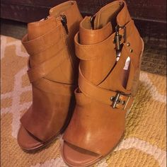 Dolce Vita booties with peep toe Brand new never been worn except to try on a few times. Impulse buy :) super cute Dolce Vita Shoes Ankle Boots & Booties