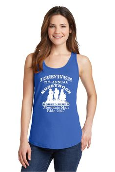 Mossyrock Horse and Riders Club I SURVIVED Tank Top MEN and WOMEN