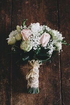 Charming Pretty Pastel Country Wedding Rose Bouquet http://www.helenlisk.blogspot.co.uk/