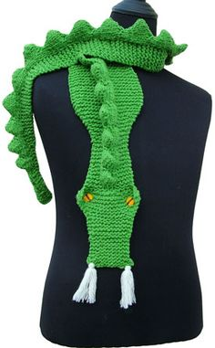 Would I really take up knitting again to make this?  I might. I would do it without eyes/fangs though--less literal.