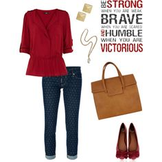 """Be Strong, Be Brave, Be Humble"" by quesarasara on Polyvore"