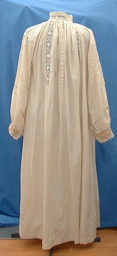 Full chemise or shift with inserted lace