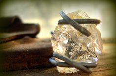 unique engagement rings - rough diamond
