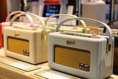 Perfect pastel for the park, go vintage this summer with a #RobertsRadio. #HarrodsTech