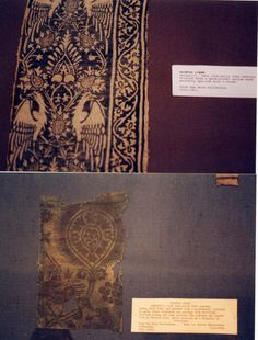 Medieval Textiles :: 2 German printed fabrics, 14th-15thc image by ClaredeCrecy - Photobucket