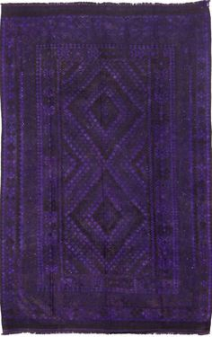 $5 Off when you share! Overdyed KLM454 Purple Rug | Southwestern Rugs #RugsUSA