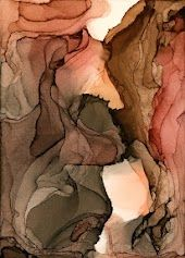 Andrea Pramuk, alcohol inks on clayboard
