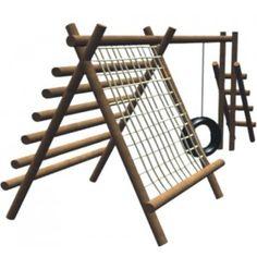 Eco Cabana - Playground - Madeira Eucalipto - MF - Cód. 1387
