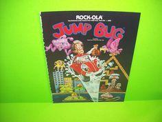Rock Ola JUMP BUG 1981 Original Vintage Video Arcade Game Promo Sales Flyer  #RockOla
