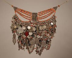 Yemen | Coral and silver necklace | Dr Bir Collection