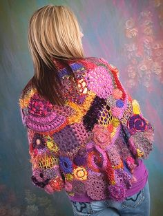 I want to make a lacy freeform shawl, but it might end up like the blanket I started in 1981 and haven't finished yet.