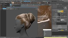 Creating Braids and Buns Using Ornatrix in Maya