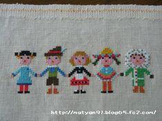 Gera! 19 Ribbon Embroidery, Cross Stitch Embroidery, Baby Knitting Patterns, Stitch Patterns, Stitch Doll, Cross Stitch Designs, Needlework, Knit Crochet, Kids Rugs
