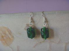 Bird Earrings, Green Earrings, Earrings Photo, Drop Earrings, Lanyard Necklace, Nickel Free Earrings, Star Shape, Bright Green, Leaf Design