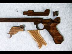 Structure of the rubber band gun - 8 rounds - Luger Type - YouTube