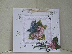 Voorbeeldkaart - vlinder kaart - Categorie: Stansapparaten - Hobbyjournaal uw hobby website