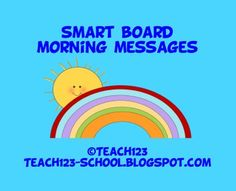 $2  SMART BOARD lessons - Five days of morning messages for the Smart Board. Skills include: punctuation marks, days of the week, date, ABC order, skip counting, patterns, and more.