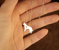 Cattle Dog/Blue Heeler necklace sterling silver by JustPlainSimple