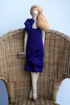 Agah made this one for my daughter! Custom OOAK Fabric Doll Made To Order by madebyagah on Etsy, $39.00