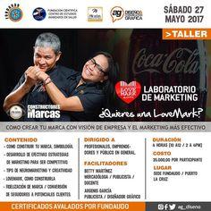 Laboratorio #LoveMark en Puerto La Cruz. Si te perdiste el primero ahora es la oportunidad. Certificado por Fundaudo @fundaudooficial y CEAS @fundacionceasoficial.  CONTENIDO: - COMO CONSTRUIR TÚ MARCA SIMBOLOGÍA. - DESARROLLO DE EFECTIVAS ESTRATEGIAS DE MARKETING PARA SER COMPETITIVO. - TIPS DE NEUROMARKETING Y CREATIVIDAD. - LOVEMARK COMO CONSTRUIRLA. - FIDELIZACIÓN DE MARCA / CONVERSIÓN DE SEGUIDORES A POTENCIALES CLIENTES.  DIRIGIDO A: Profesionales emprendedores y público en general…