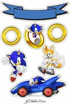 topo de bolo do sonic Sonic Birthday Cake, Sonic Birthday Parties, 2 Birthday, Hedgehog Birthday, Bolo Sonic, Sonic Cake, Sonic Party, Sonic Kuchen, Sonic The Hedgehog Cake