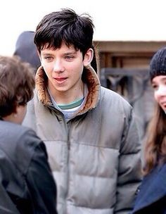 asa butterfield on the set of his new movie Ten Thousand Saints.