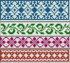 Ideas knitting charts fair isle cross stitch Ideas knitting charts fair isle cross stitch Always wanted to figure out how to knit, however unclear wher. Cross Stitch Borders, Cross Stitch Charts, Cross Stitching, Cross Stitch Embroidery, Cross Stitch Patterns, Fair Isle Knitting Patterns, Bead Loom Patterns, Knitting Charts, Knitting Stitches