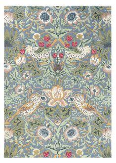 Strawberry Thief slate Rug - Morris and Co Victorian Rugs, Victorian Era, Carpet Fitters, Morris Homes, Textiles, Oriental Design, Burke Decor, Grey Carpet, William Morris