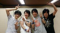 From the left, Takuma Terashima, Kenichi Suzumura, Daisuke Ono and Shoutaro Morikumobo. Photo by Takuma Terashima Twitter(@tour_prism)