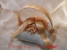 orange wedding ring pillow