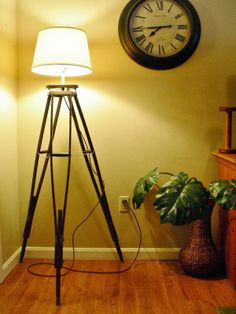 Destinations Vintage... Upcycled & Repurposed Stuff - Tri-pod lamp made from old crutches!