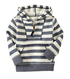 Striped Terry-Fleece Hoodies for Baby Boy Little Boy Fashion, Baby Boy Fashion, Kids Fashion, Polo Fashion, Latest Fashion, Toddler Outfits, Baby Boy Outfits, Kids Outfits, Baby Boys