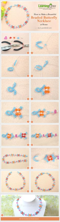 How to Make a Beautiful Beaded Butterfly Necklace at Home