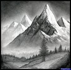 Image result for how to draw mountains
