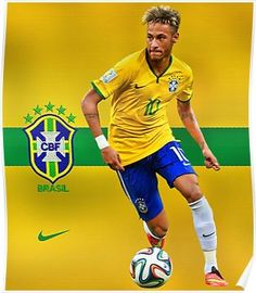 NEYMAR JR. - 10 - BARCELONA Poster Manchester United, Real Madrid, Barcelona, World Cup Russia 2018, Neymar Jr, Fifa World Cup, Football Fans, Psg, Survival