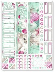 APRIL Monthly View Bunny Planner Stickers
