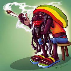We smoke the bomb weed Cartoon Smoke, Dope Cartoon Art, Reggae Art, Reggae Music, Cannabis Wallpaper, Rastafarian Culture, Rasta Art, Bob Marley Art, Dope Cartoons