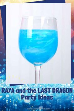 Raya and the Last Dragon Party Ideas   blue magical drink Dragon Party, Party Themes, Party Ideas, Hades, Party Snacks, Descendants, Disney Parties, Drinks, Blue