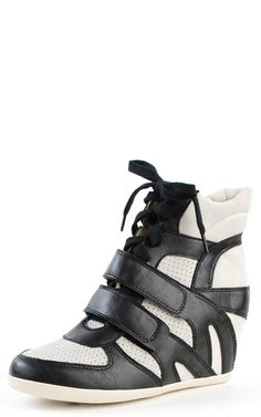 Bubble01 Double Strap Wedge Sneakers