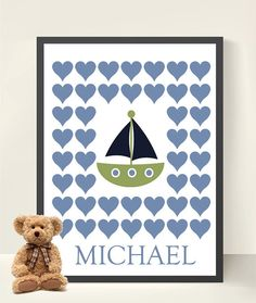 Baby Shower/ Baby Boy Guestbook   Nautical by HeartworkMemories, $24.00