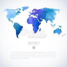 Vector template world map on blurred nature background points abstract vector background with triangle world map gumiabroncs Choice Image